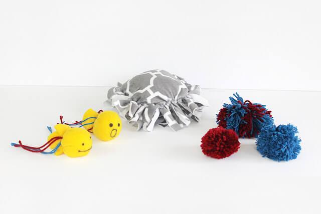 No sew no glue homemade cat toys