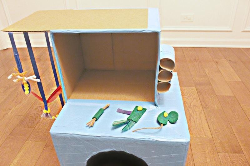 DIY cat box house