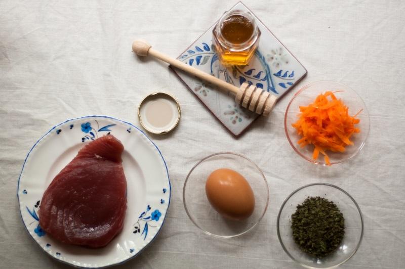 Homemade tuna and honey cat treats