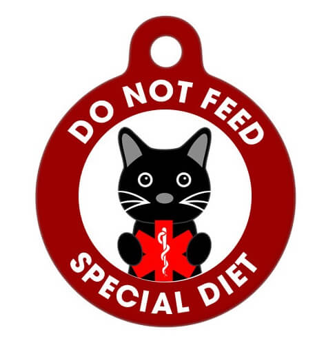 Do not feed me cat collar