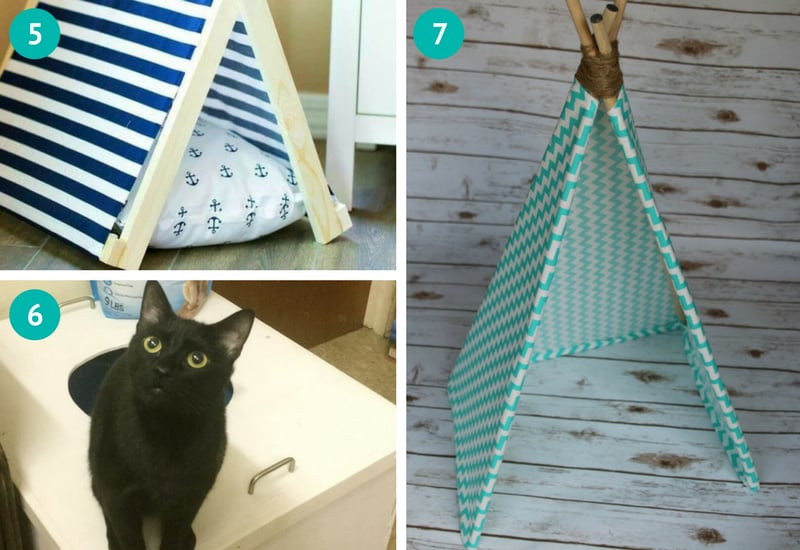 DIY cat teepee bed, DIY litter box cover