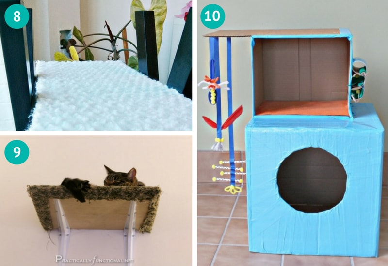 DIY cat tree, cat shelves, cat house